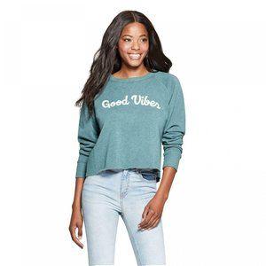 NWT Grayson Threads Good Vibes Sweatshirt Teal L